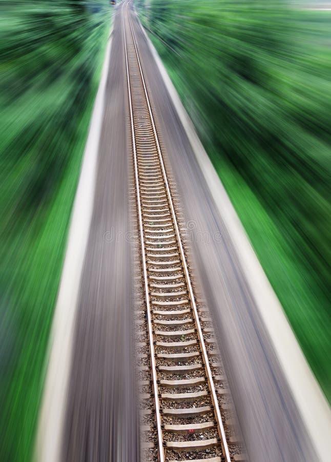 Straight Railway Tracks Stock Image