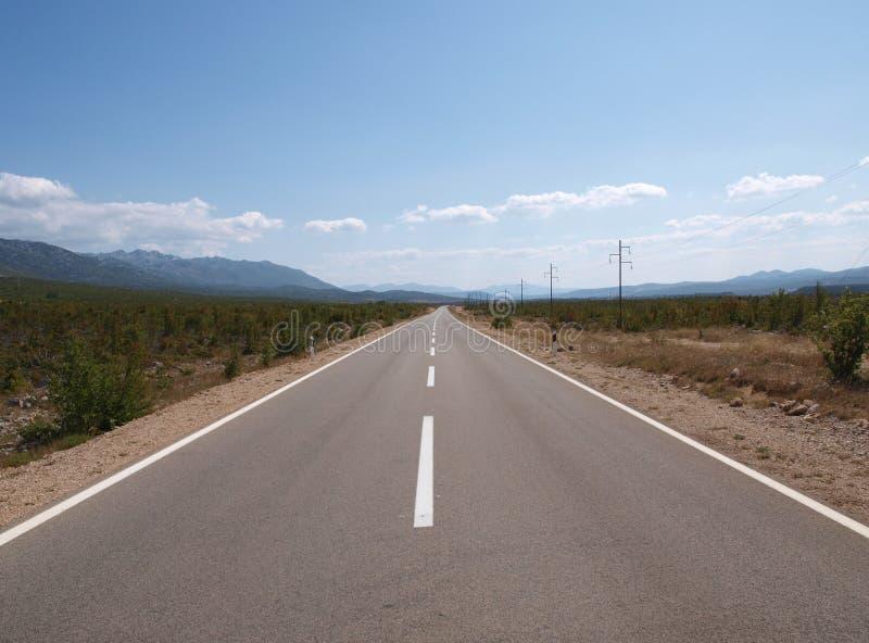 Download Straight road stock image. Image of alone, asphalt, destination - 11479915