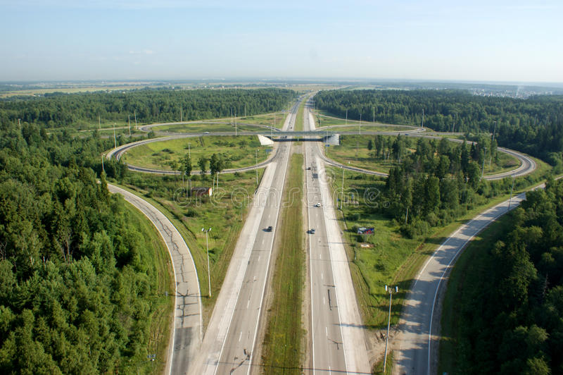 Download Straight road stock image. Image of ring, road, forest - 14191993