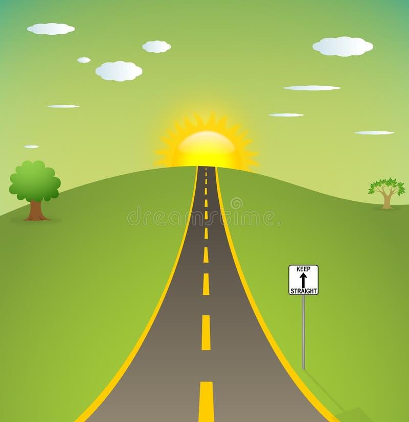 Download Straight road stock illustration. Illustration of tree - 20297688