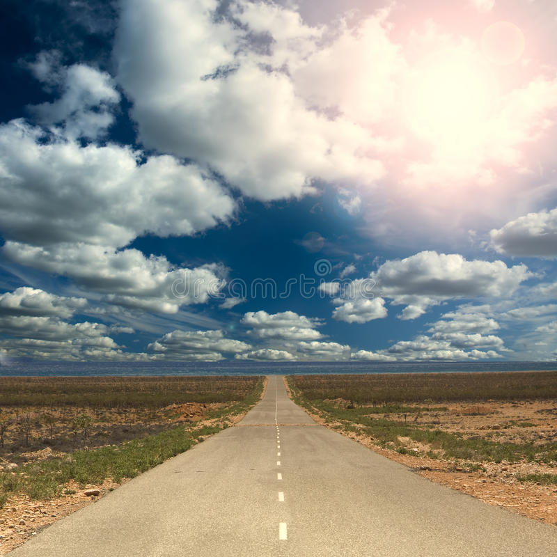 Straight road royalty free stock photo