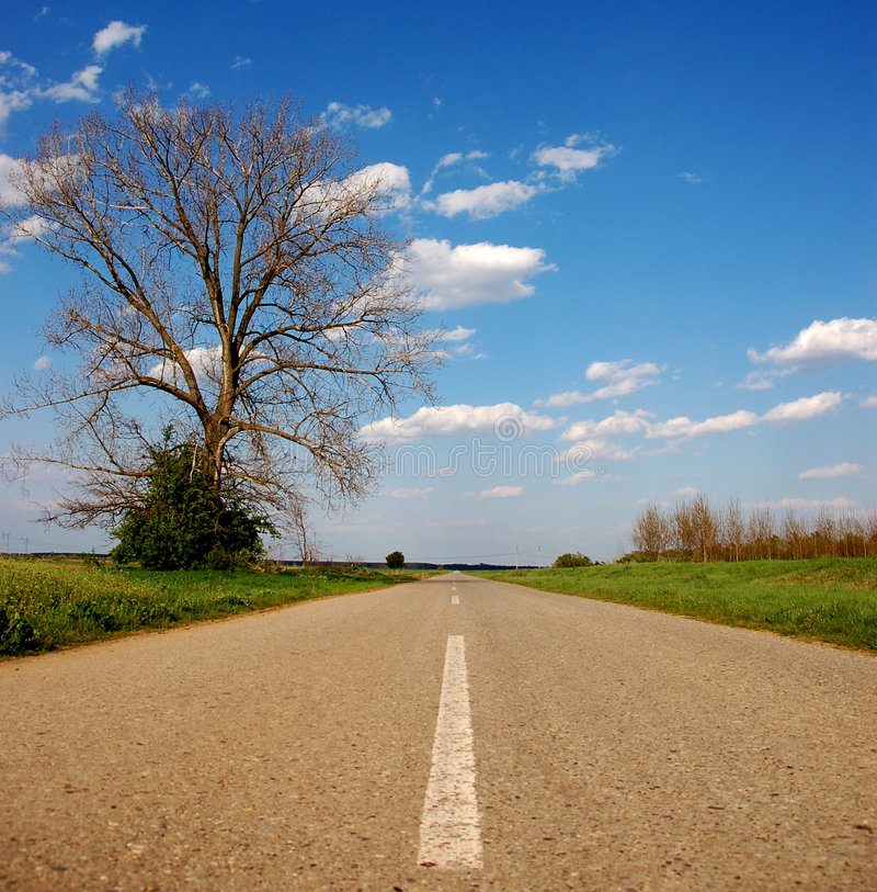 Download Straight road stock photo. Image of horizon, outside, blue - 4907212