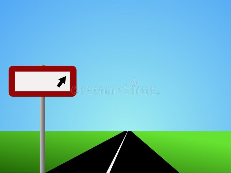 Straight Road With Blank Sign Royalty Free Stock Images