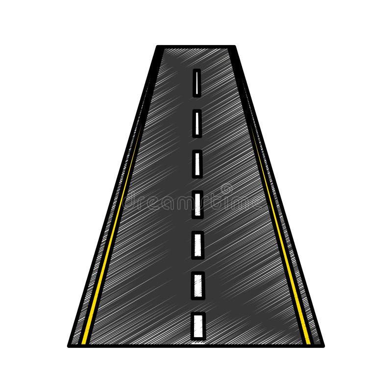 Straight road isolated icon stock illustration