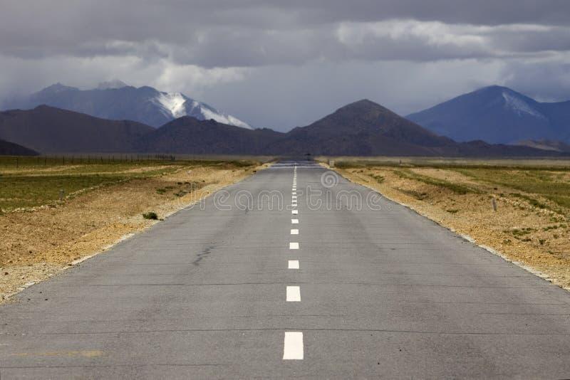 Straight road stock photo