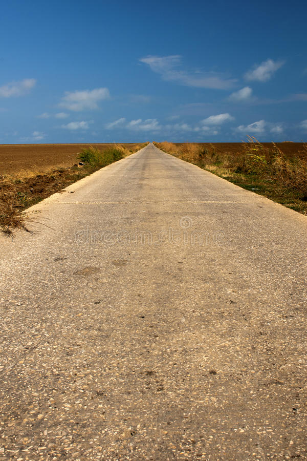 Straight road to sky royalty free stock photo