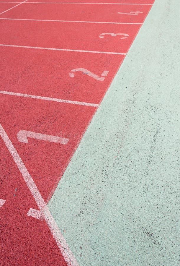 Straight Running Track Stock Photography