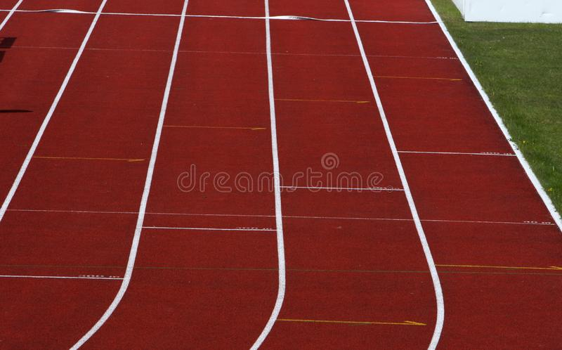 Straight running track royalty free stock photos