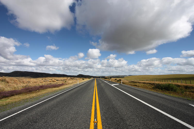 Download Straight scenic road stock image. Image of summertime - 14851757