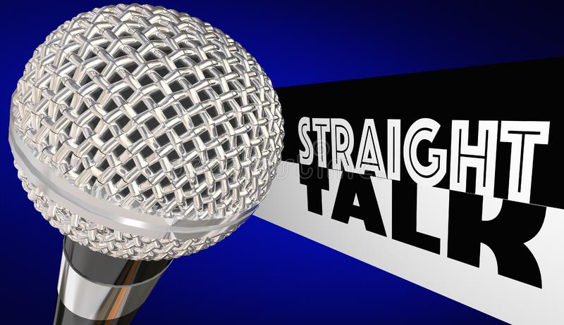 Straight Talk Radio Chat Show Microphone. 3d Illustration vector illustration
