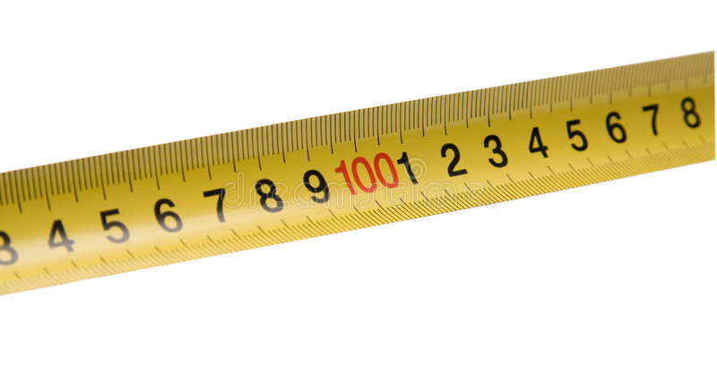 Download Straight yellow ruler stock image. Image of measurement - 8234779