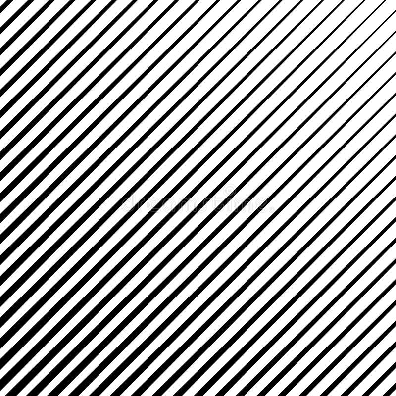 Straigth diagonal stripes, parallel lines abstract geometric texture, pattern, vector halftone royalty free illustration