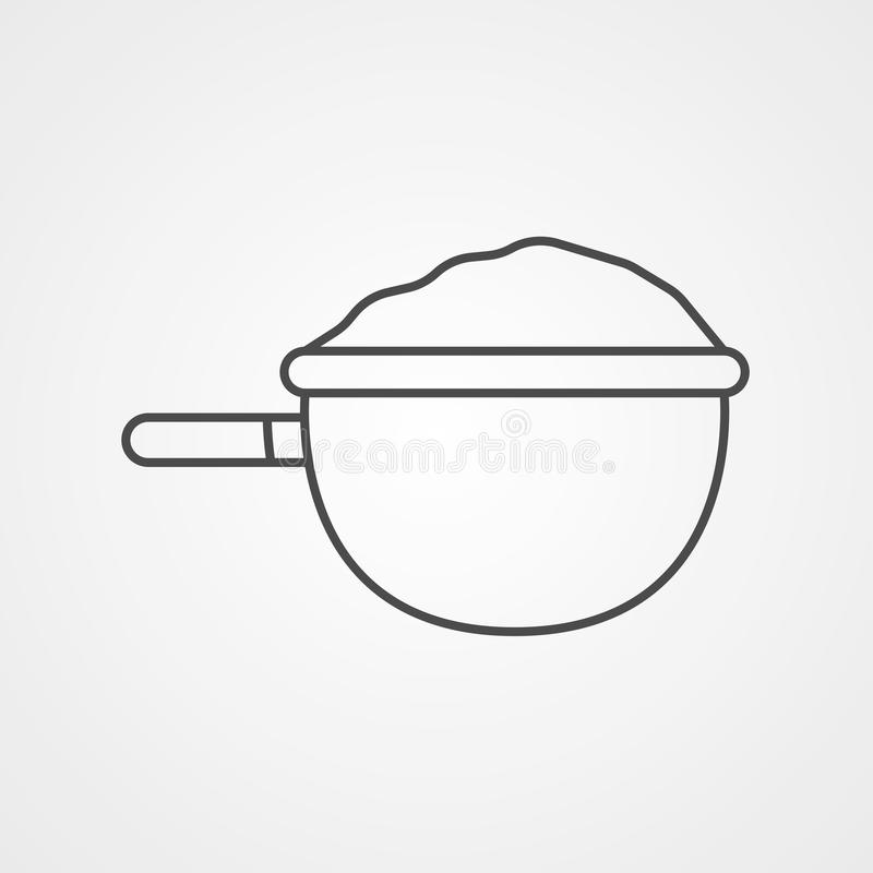 Strainer vector icon sign symbol royalty free illustration