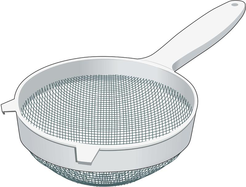 Strainer Vector Illustration. A vector illustration of a kitchen wire strainer royalty free illustration