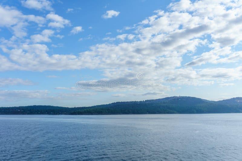 Strait of Georgia between Vancouver and Victoria British Columbia Canada. stock image