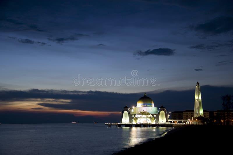 Download Straits Mosque at Dusk stock photo. Image of muslim, minaret - 6710592