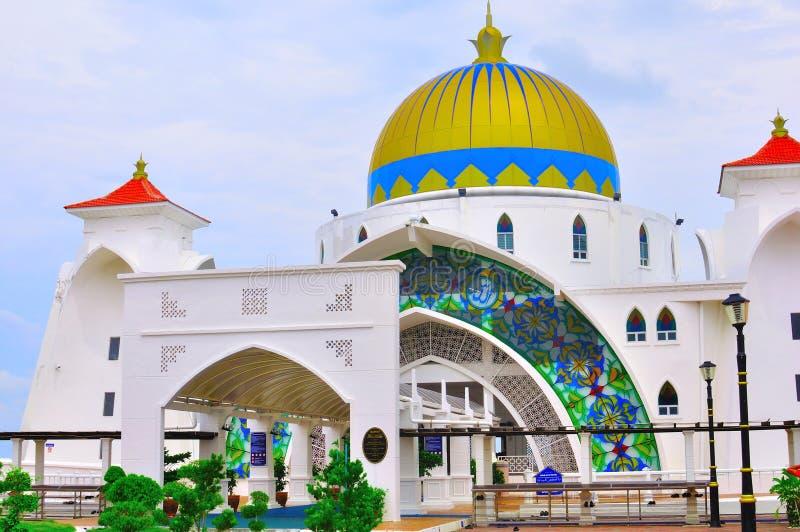 Straits Mosque, Melaka stock image
