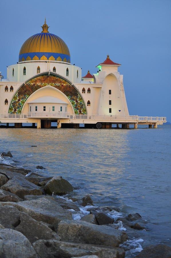 Straits Mosque, Melaka royalty free stock image