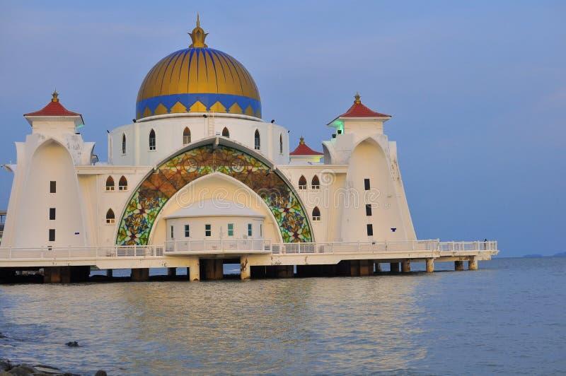 Straits Mosque, Melaka stock photography