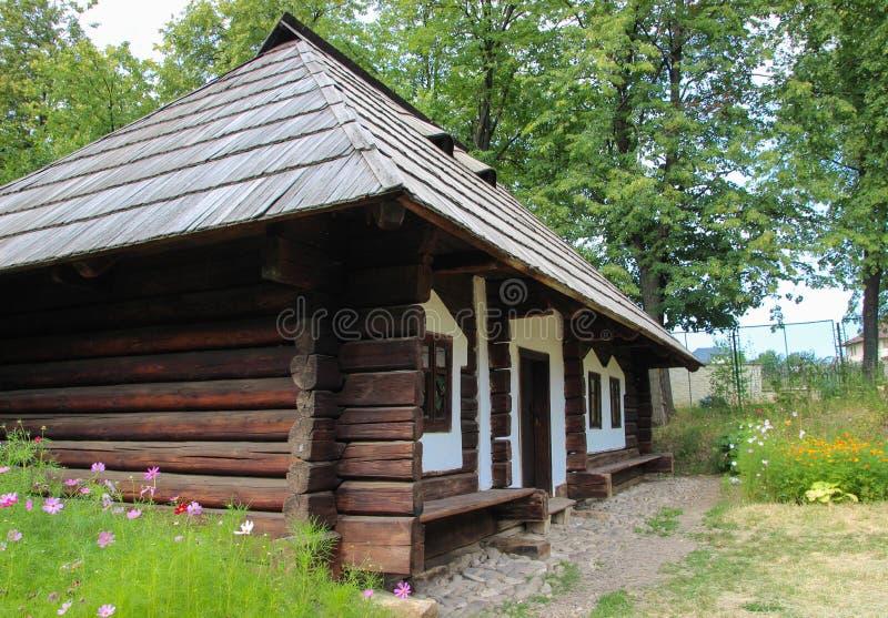 Strajahuis - Suceava-Dorpsmuseum royalty-vrije stock afbeeldingen