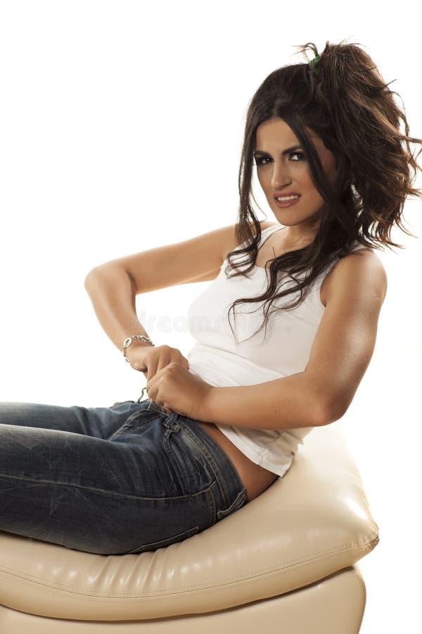 Strakke jeans stock afbeeldingen