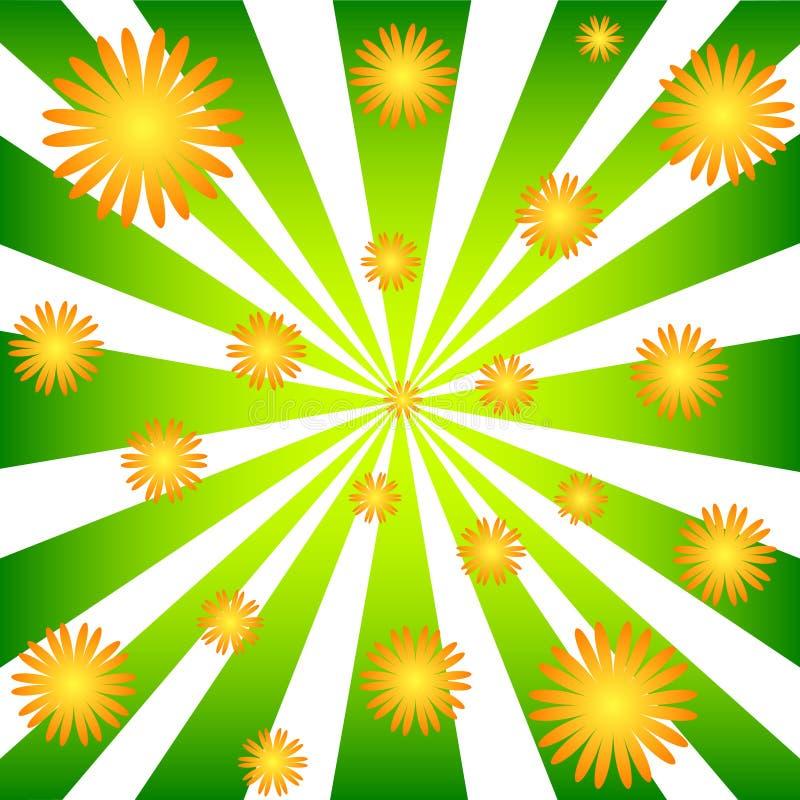 Stralen en bloemen vector illustratie