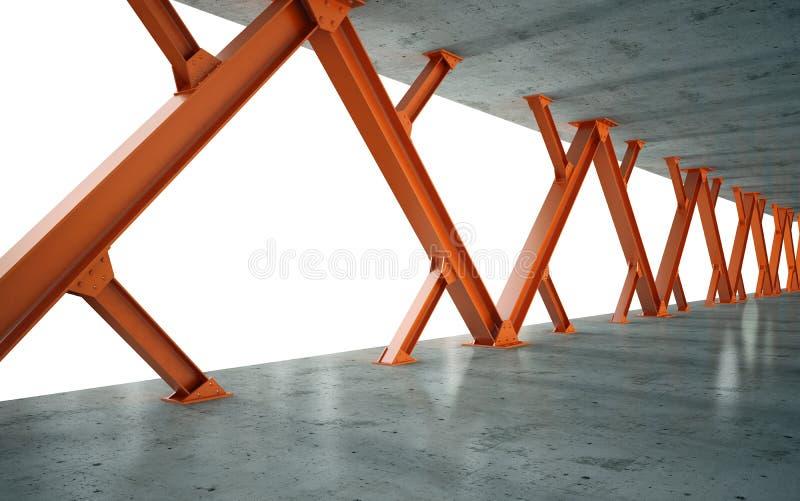 Stralen en concrete structuur vector illustratie