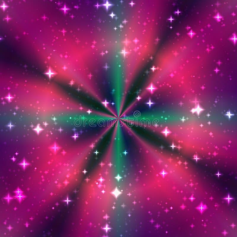 Stralen van de kleuren de magische ring vector illustratie