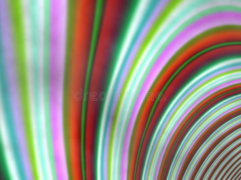 Stralen van kleur en banden stock illustratie