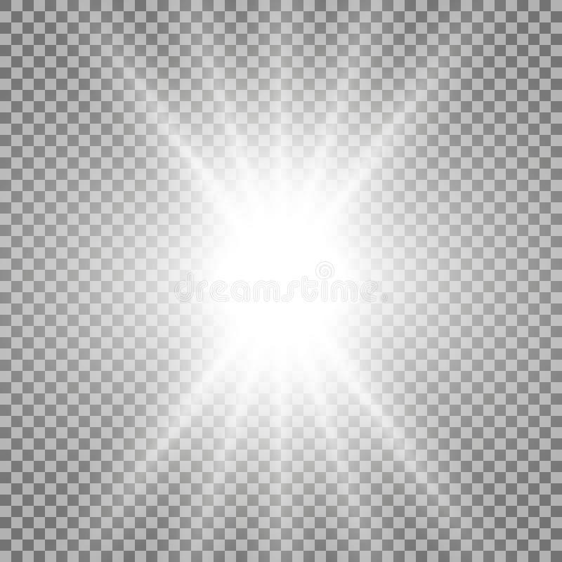 Stralen van lichte, witte kleur stock fotografie