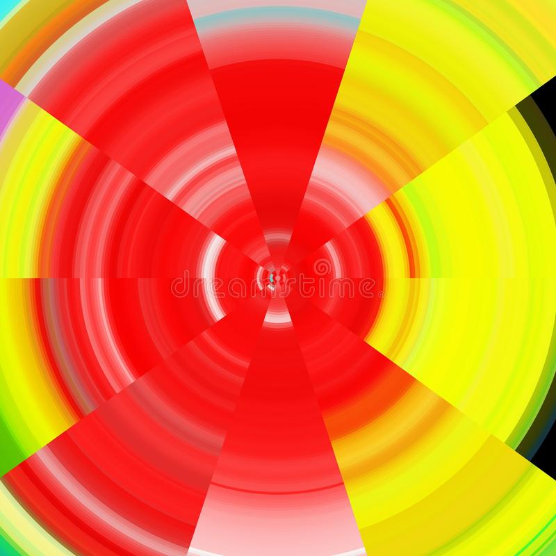 Stralende achtergrond in rode en gele tinten royalty-vrije illustratie