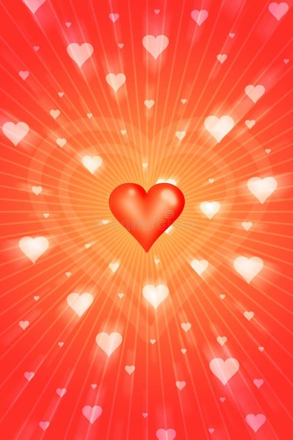 Stralende liefde vector illustratie