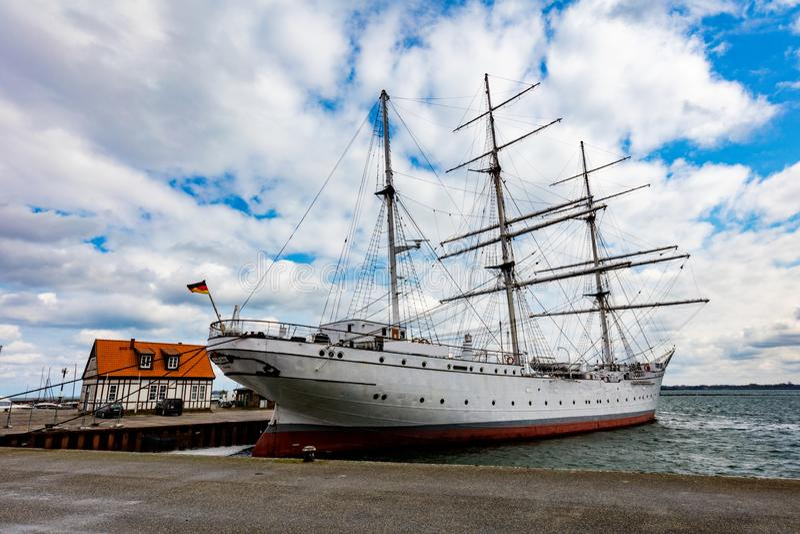 Stralsund, Γερμανία Gorch Fock Ι σκάφος στοκ φωτογραφία
