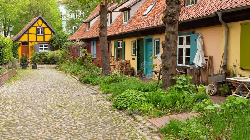 Stralsund Arquitectura histórica de la ciudad portuaria situada en la isla de Rugen en Alemania fotos de archivo libres de regalías