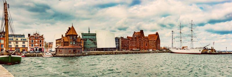 Stralsund, Duitsland Oude Hanseatic stad stock afbeeldingen