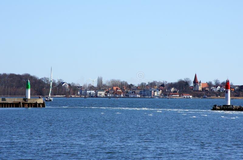 Stralsund hamn royaltyfria foton