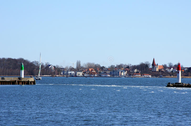 Stralsund harbor royalty free stock photos