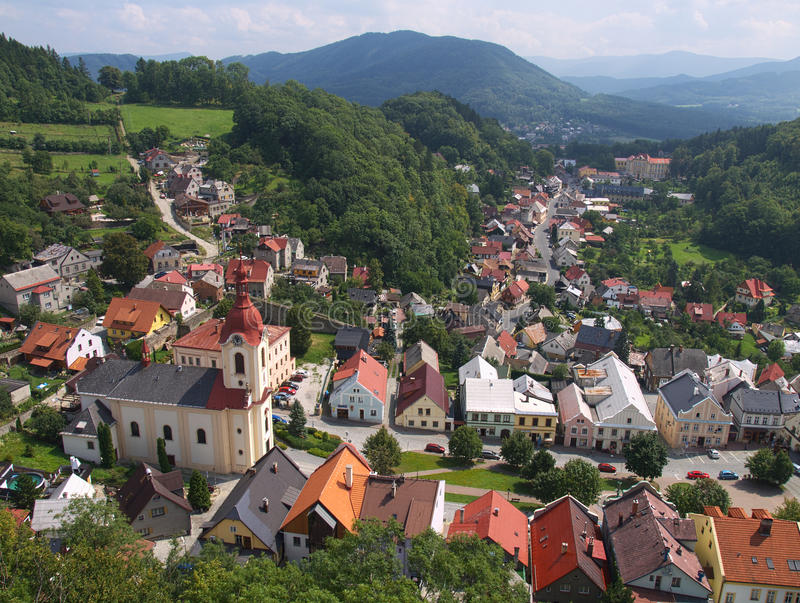 Stramberk - Stad In Tsjechische Republiek Stock Fotografie