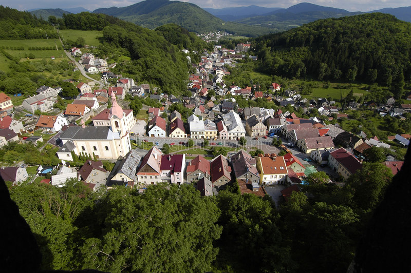 Stramberk Stadt lizenzfreies stockfoto