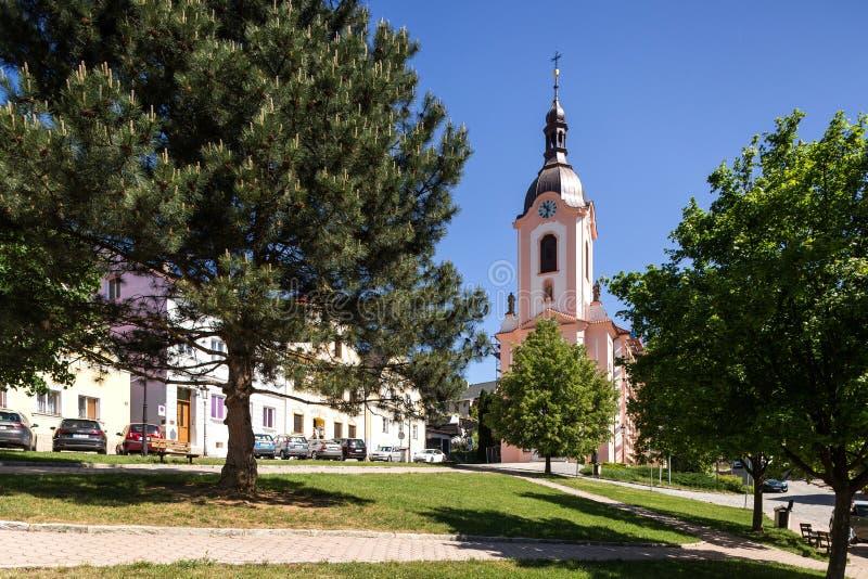 Stramberk, Tschechische Republik Kirche von Jan Nepomucky lizenzfreies stockbild