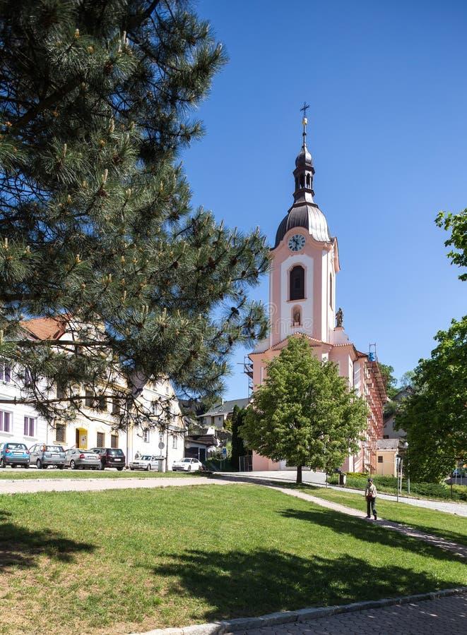 Stramberk, Tschechische Republik Kirche von Jan Nepomucky lizenzfreies stockfoto