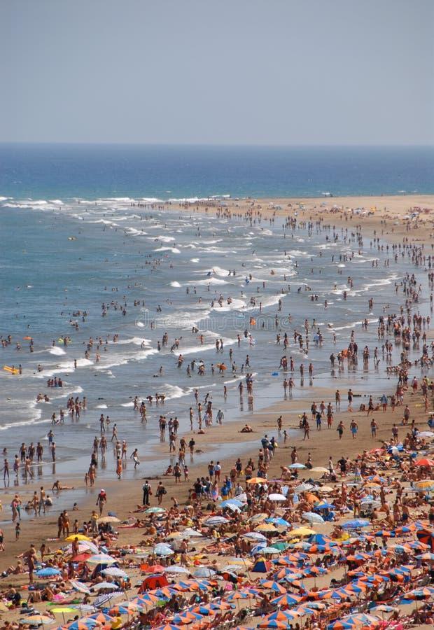 Am Strand lizenzfreie stockbilder
