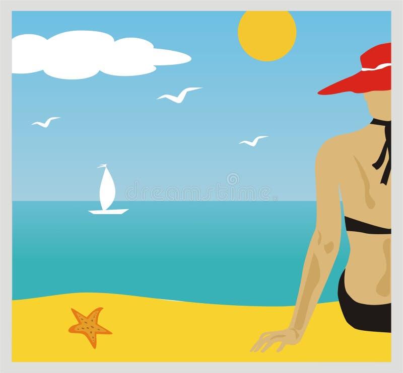 Strand royalty-vrije illustratie