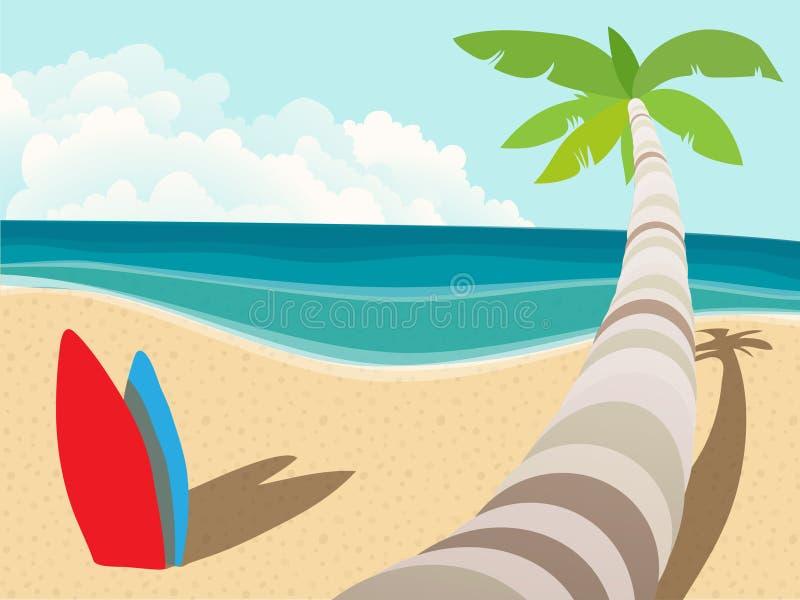 strand vektor illustrationer