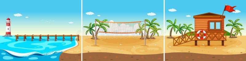 Strand vector illustratie