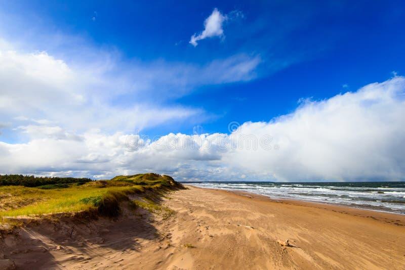 Strand aan het eind van de zomer royalty-vrije stock fotografie