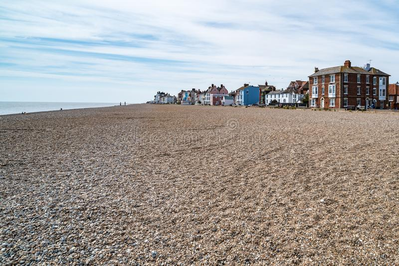 Strand in Aldeburgh, England stockbild