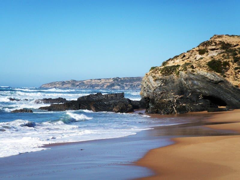 Strand in Alentejo stock afbeelding