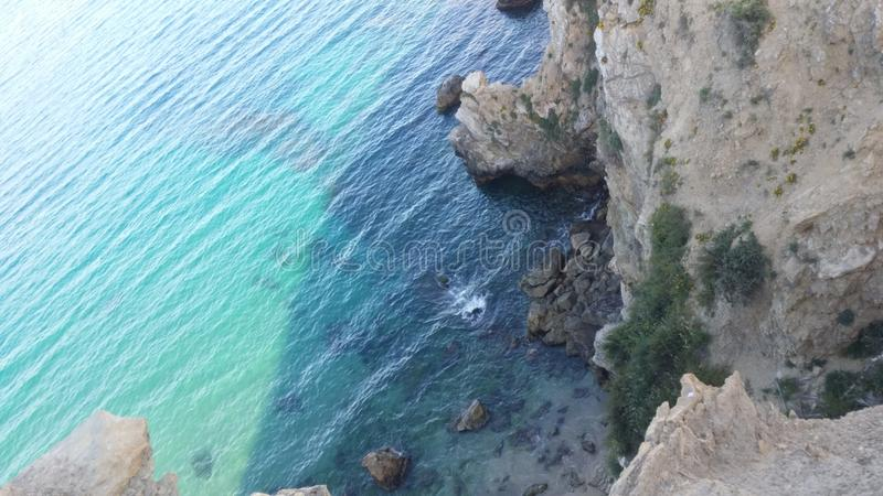 strand Alhoceima stock fotografie
