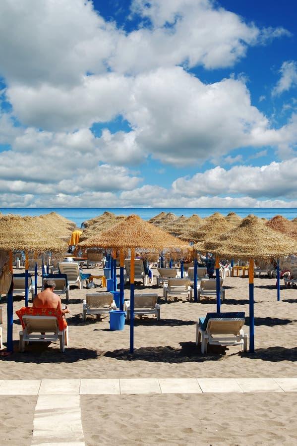 Strand in Andalusia, Spanje royalty-vrije stock foto